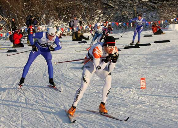 Steinbock Racing's Chris Cook recently won the pack sprint at the American Birkebeiner to finish 3rd.
