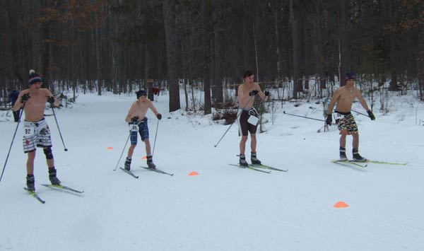 Beefcake at the 2010 Muffin cross country ski race
