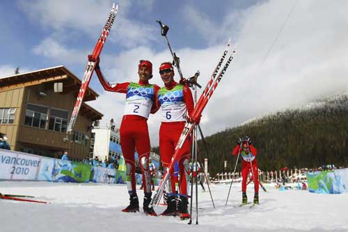 Billy Demong and Johnny Spillane win Gold and Silver in Nordic Combined at 2010 Winter Olympics