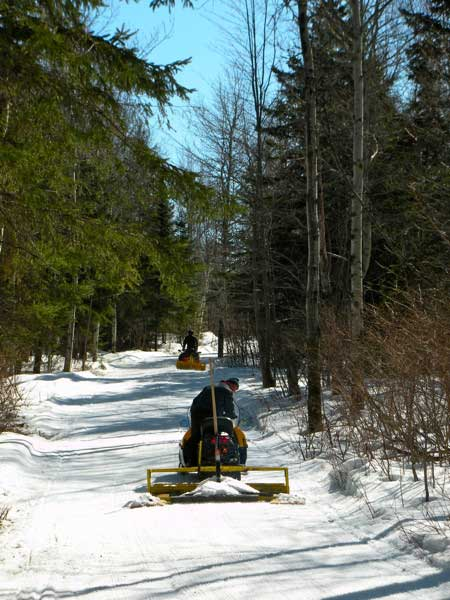 Grooming the 50K Course at Fort Kent for the SuperTour final