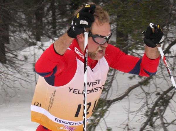 Leif Zimmermann in Yellowstone cross coutnry ski skate race