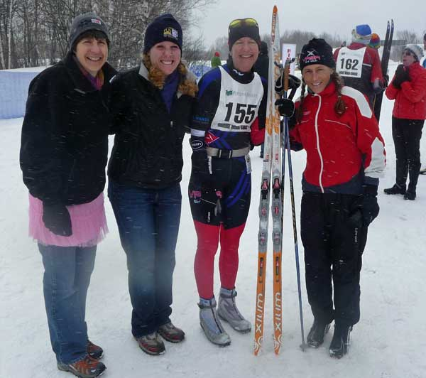 Michigan Cup women at the 2011 Great Bear Chase cross country ski race