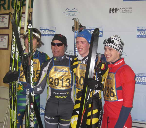 Top four in the Noquemanon Ski Marathon 24k Freestyle