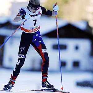 Liz Stephen skis to 12th in Davos 10K freestyle