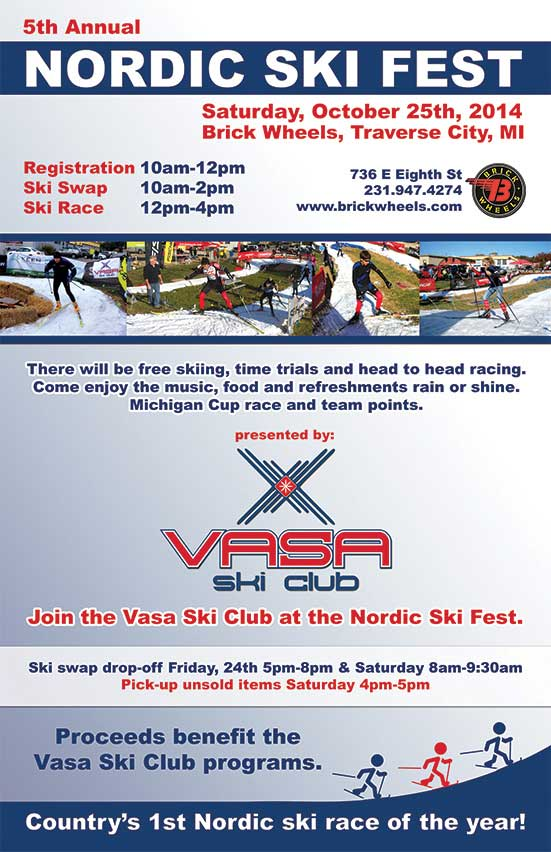 2014 Nordic Ski Fest cross country ski race and ski swap