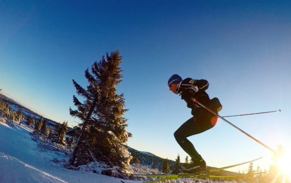 Andy Newell trains in Lillehammer. (Andy Newell/blog)