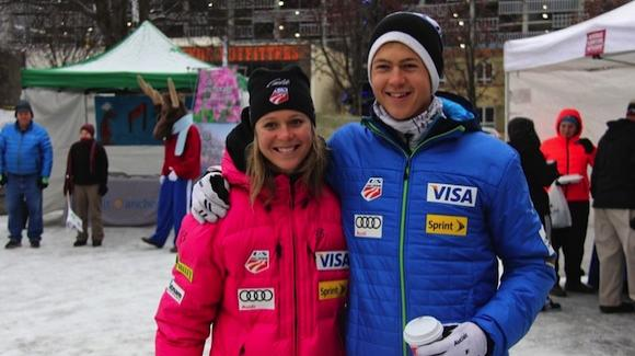 Sadie and Erik Bjornsen, shown at the beginning of the season, led today's U.S. effort in the Lahti World Cup. Sadie was 14th in the 10k classic. Erik was 38th in the 15k. (Bjornsen photo)