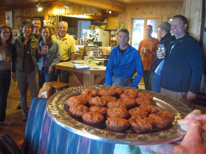 Bob Frye bakes his first oat bran muffins...and he's proud!