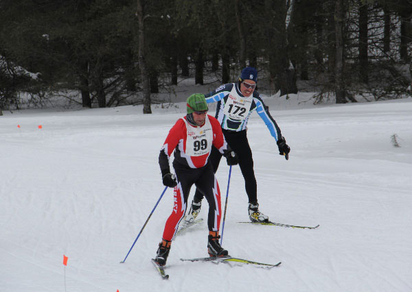 Fight to the finish at the Forbush Corner 17K Freestyle cross country ski race