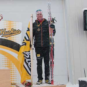 Michigan Tech's Haakon Hjelstuen third overall in Sprint
