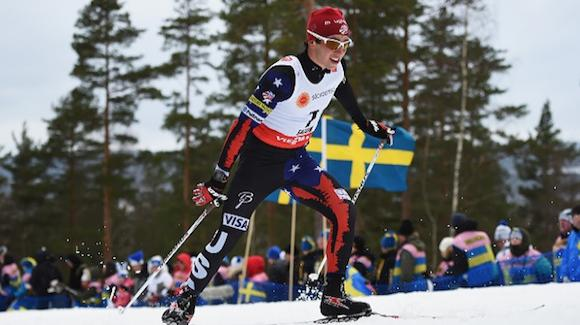 Noah Hoffman competes in the 15k freestyle race in Falun. (Getty Images-Matthias Hangst)