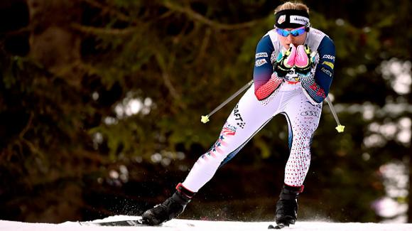 Jessica Diggins skied to an 11th-place finish in the FIS Nordic World Cup in Davos. (Getty Imagas-Vianney Thibaut)