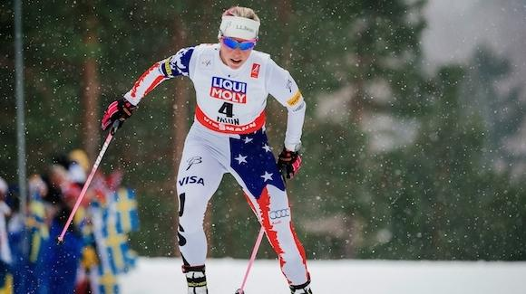 Kikkan Randall (pictured here at the World Championships in Falun) will be inducted into the Alaska Cross Country Hall of Fame. (Getty Images/AFP-Jonathan Nackstrand)