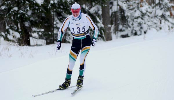 Kyle Bratrud was in a league of his own today, said NMU head nordic skiing coach Sten Fjeldheim