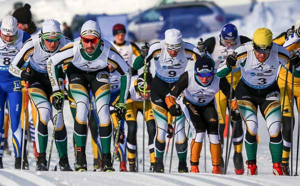 Northern Michigan University Nordic ski racers