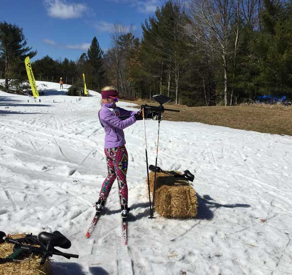 Chloe Lawson at Cross Country Ski Headquarters