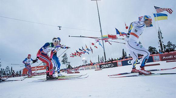 The U.S. competed in the Ruka Triple mini tour, which closed Sunday with a 10k classic pursuit. (Ruka)