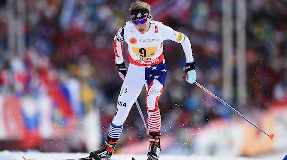 Liz Stephen raced the third leg in the 4x5k relay event. The U.S. women finished fourth. (Getty Images-Mike Hewitt)