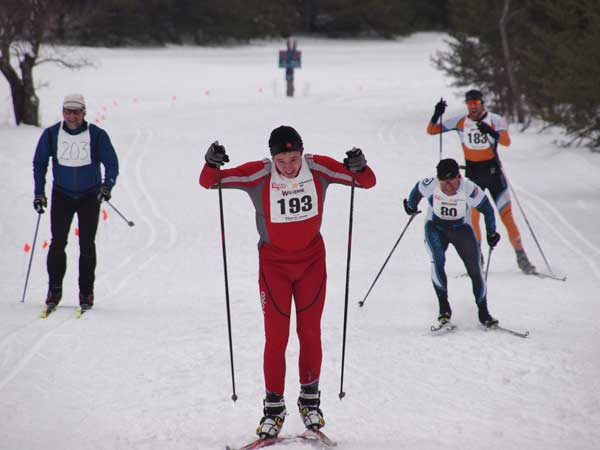 Jay Woodbeck at the Forbush Freestyle corss county ski race, 2015