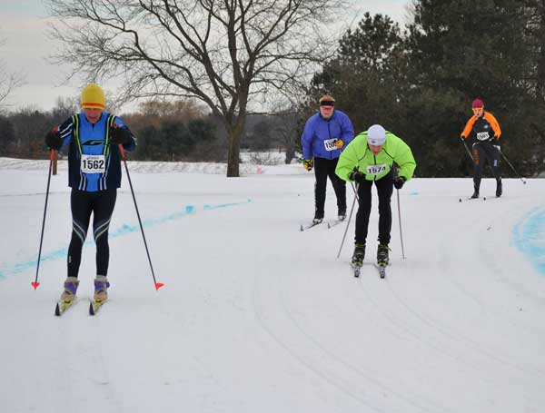 Three sets of tracks were set for the NordicSkiRacer Krazy Klassic cross country ski race