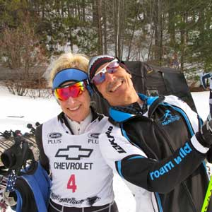 Reid and Sarah Goble set course records at Black Mountain Freestyle