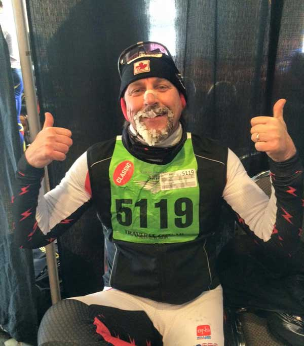 A happy Blair Zordell who won the North American Vasa 50km classic