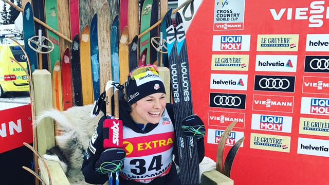 essica Diggins has recorded her second ever individual World Cup victory