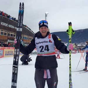 Jessica Diggins wins Stage 6 of Tour de Ski