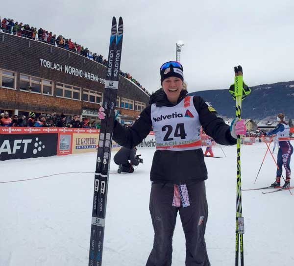 /racing/2016/Jessie Diggins wins World Cup in Toblach