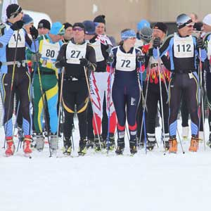 White Pine Stampede: Classic skiers go first!