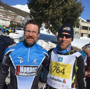 Team NSR and GRNST at the Engadin Skimarathon