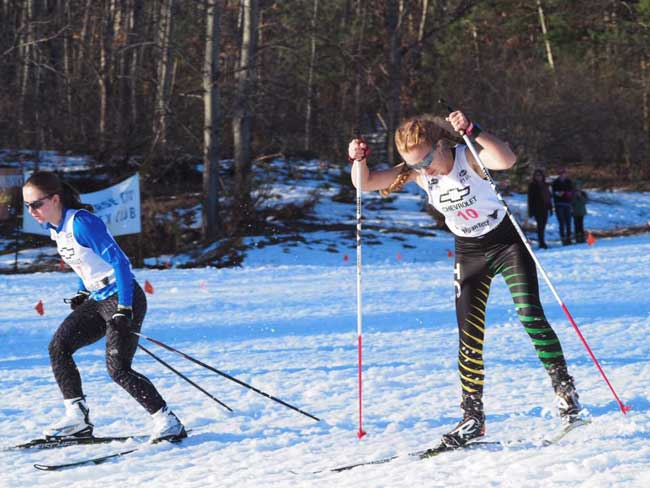 Hammering in the sprint cross country ski race