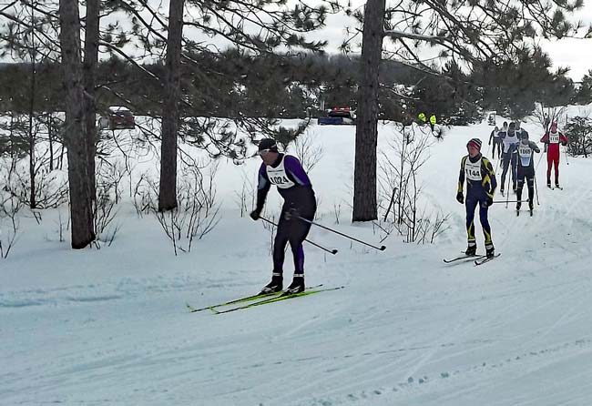 classic skiers on course at the 2017 White Pine Stampede