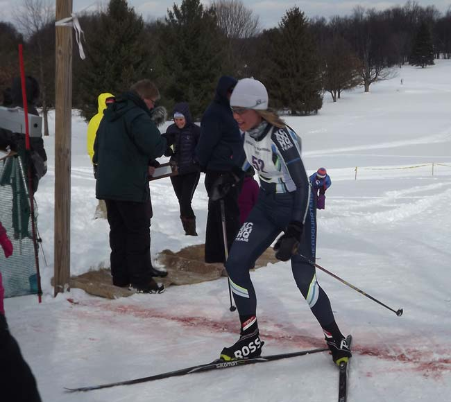Mariah Fry-Collie wins 2017 White Pine Stampede cross country ski race