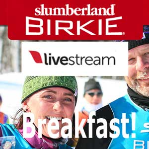 Watch the Birkie over breakfast at XCHQ