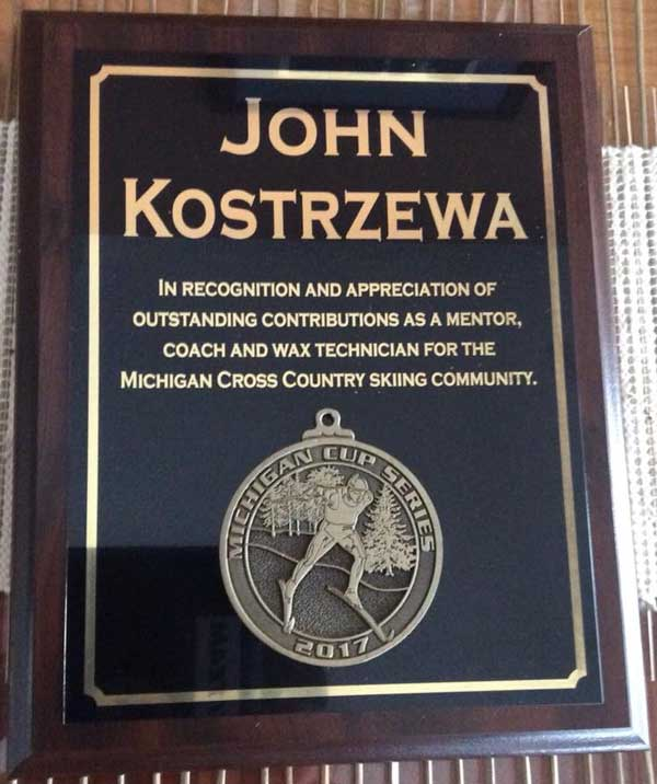 Plaque for John Kostrzewa