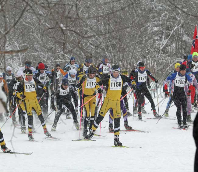 Michigan Cup cross country ski racers