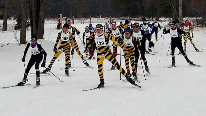 Michigan Cup cross country skiers