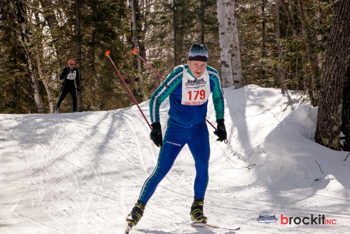 Richard Clark at the Great Bear Chase XC ski race