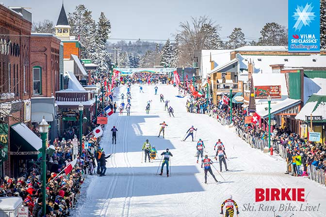 American Birkebeiner and Visma Ski Classics finish line cross country ski racers