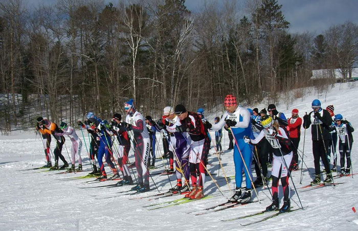 Black Mountain cross country ski race start 2019