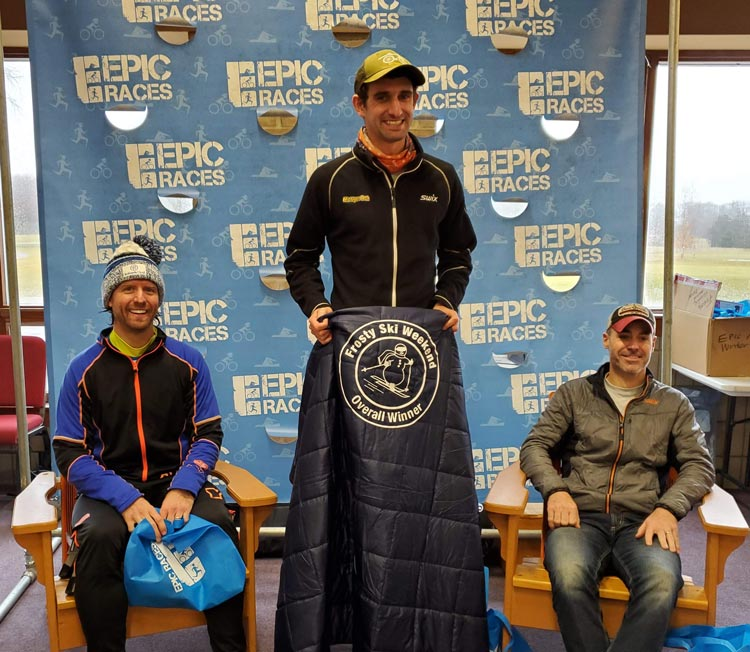 2020 Frosty Freestyle cross country ski race men's podium