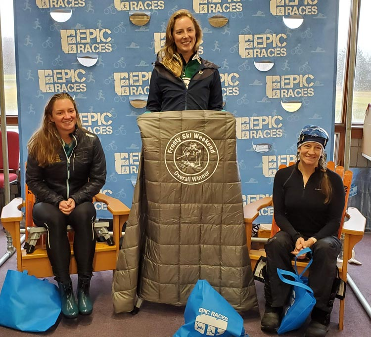 2020 Frosty Freestyle cross country ski racer women's podium