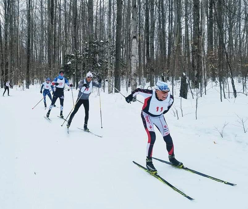 On the ski trail at the 2020 Michigan Cup Freestyle Championships