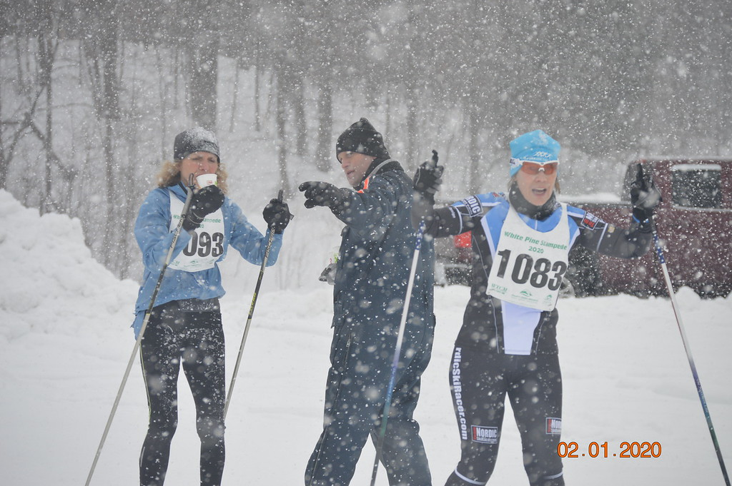 White Pine Stampede cross country ski racers
