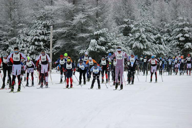 Cote Dame Marie Ski Loppet, start of first wave