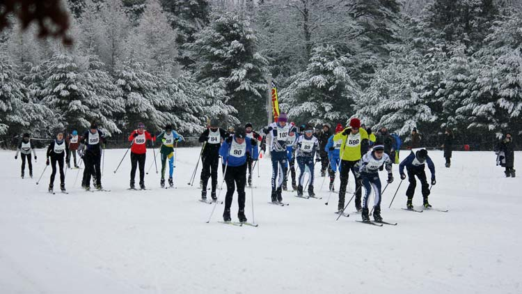 Cote Dame Marie Ski Loppet, start of 5th wave