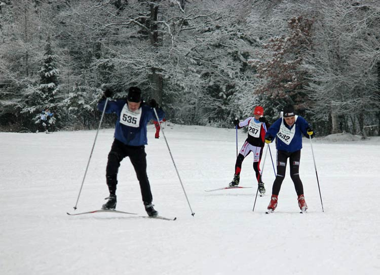 Cote Dame Marie Ski Loppet, fight to the finish line