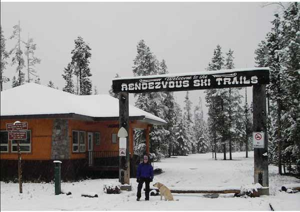 Snow in West Yellowstone.