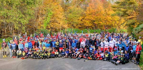 World record attempt for most rollerskiers in one place